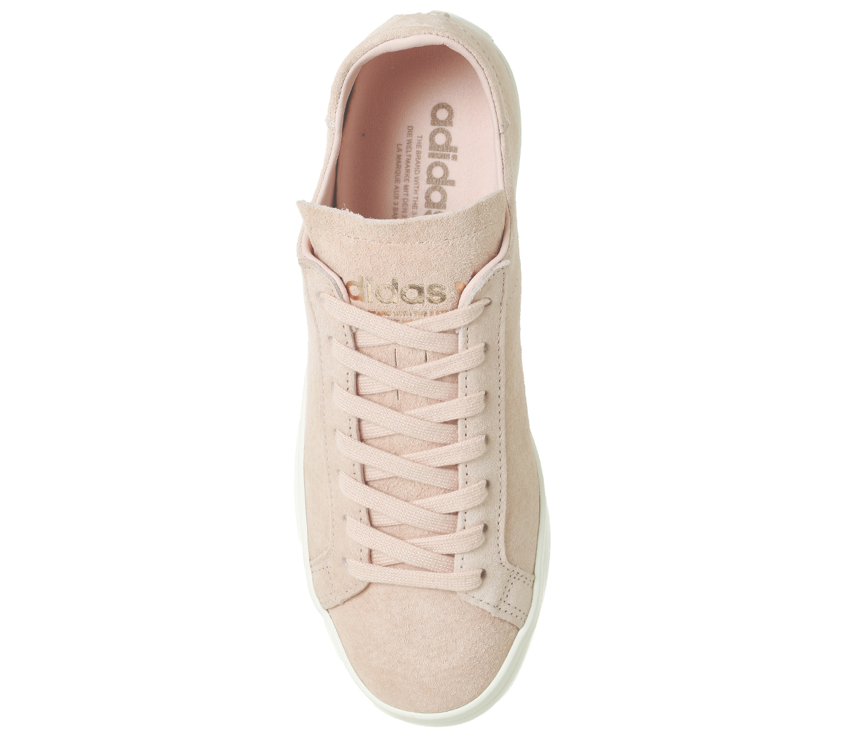 eb5776ed0d7 Details about Womens Adidas Court Vantage Trainers VAPOUR PINK OFF WHITE  EXCLUSIVE Trainers Sh