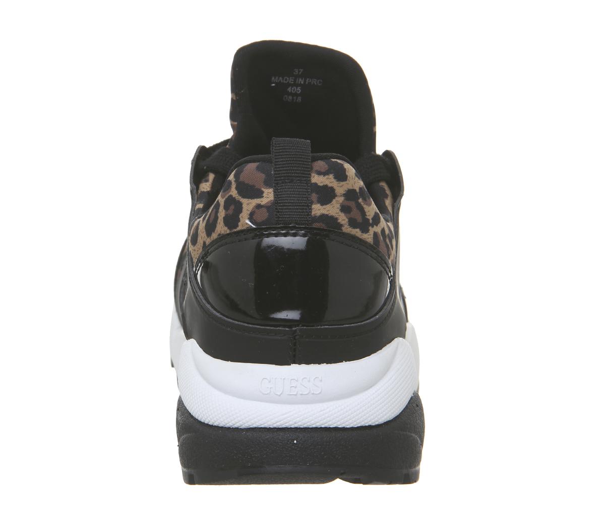 Womens Guess Semi Sneakers Leopard Flats