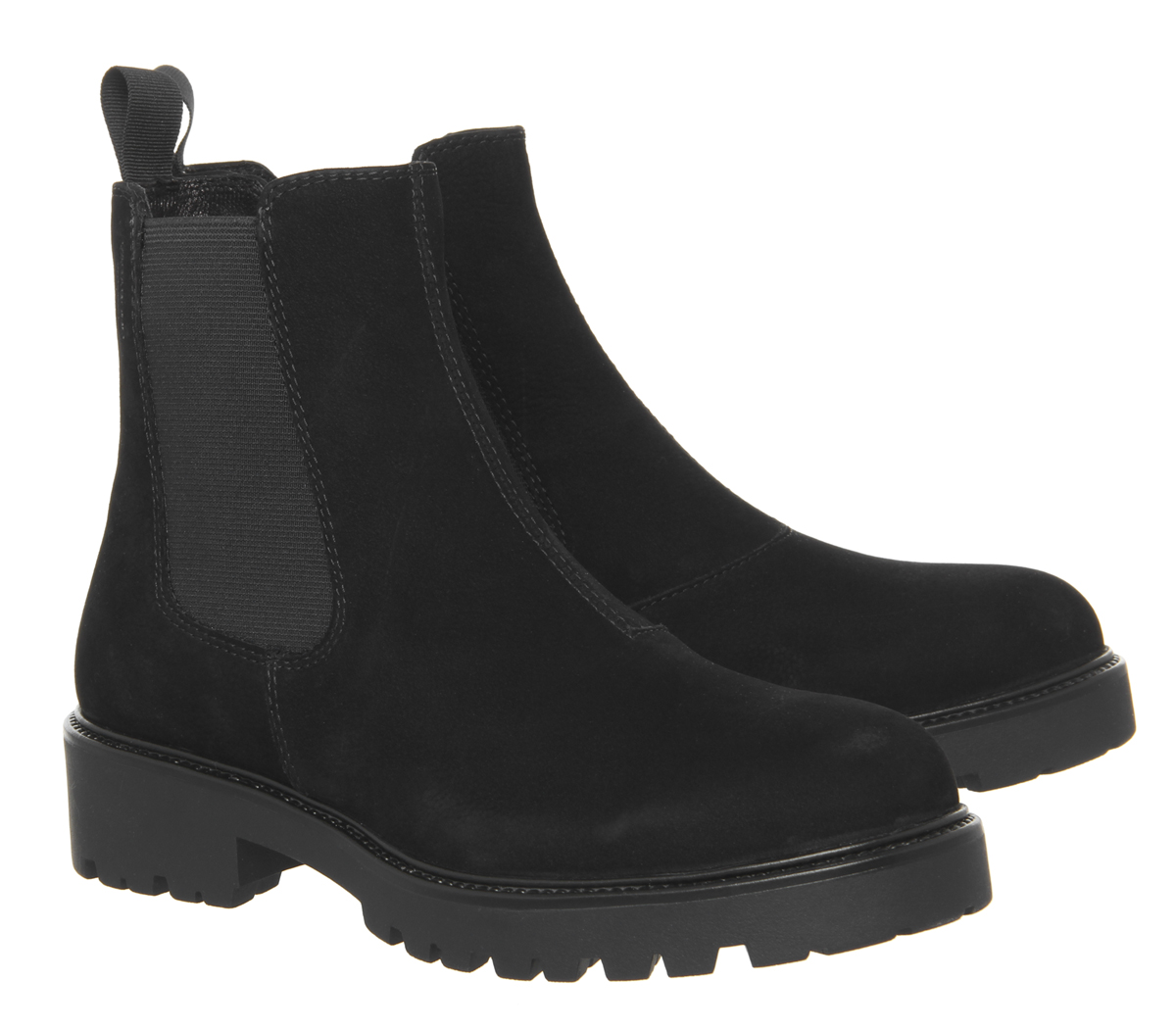 Womens Vagabond Kenova Chelsea Boots Black Nubuck Boots