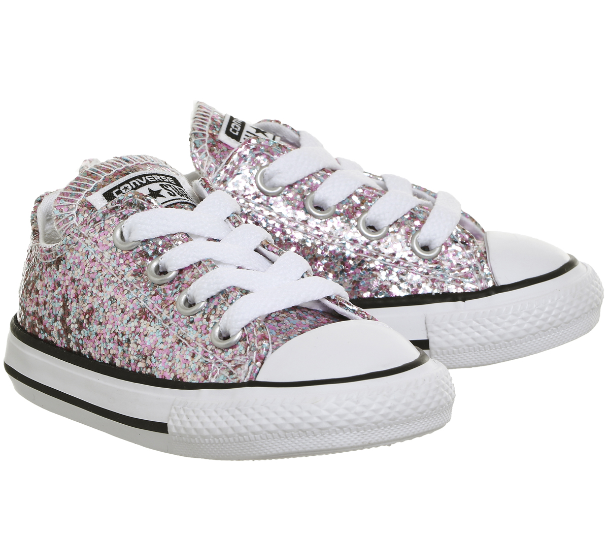 b6ac09f84ae Kids Converse All Star Low Infant VAPOUR PINK GLITTER EXCLUSIVE Kids ...