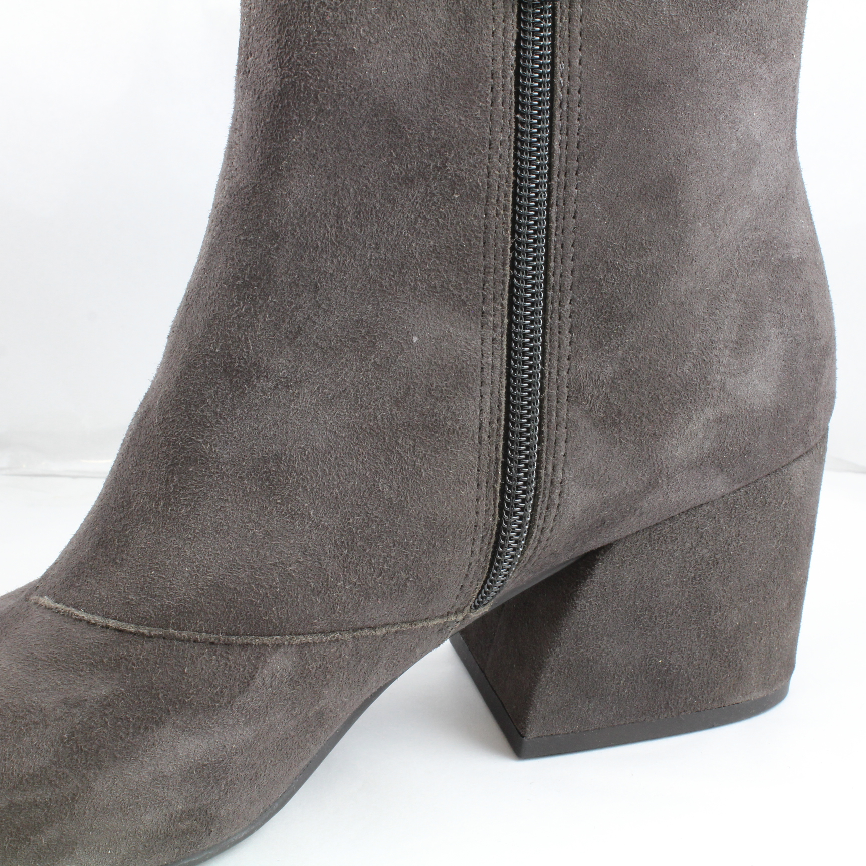 womens vagabond grey suede zip ankle boots uk size 6 ex