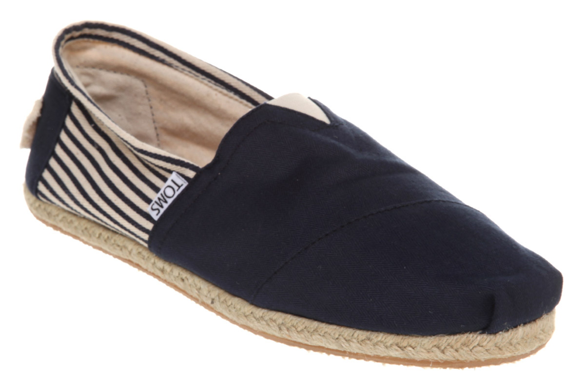 Mens-Toms-Toms-Espadrille-Navy-Canvas-Casual-Shoes