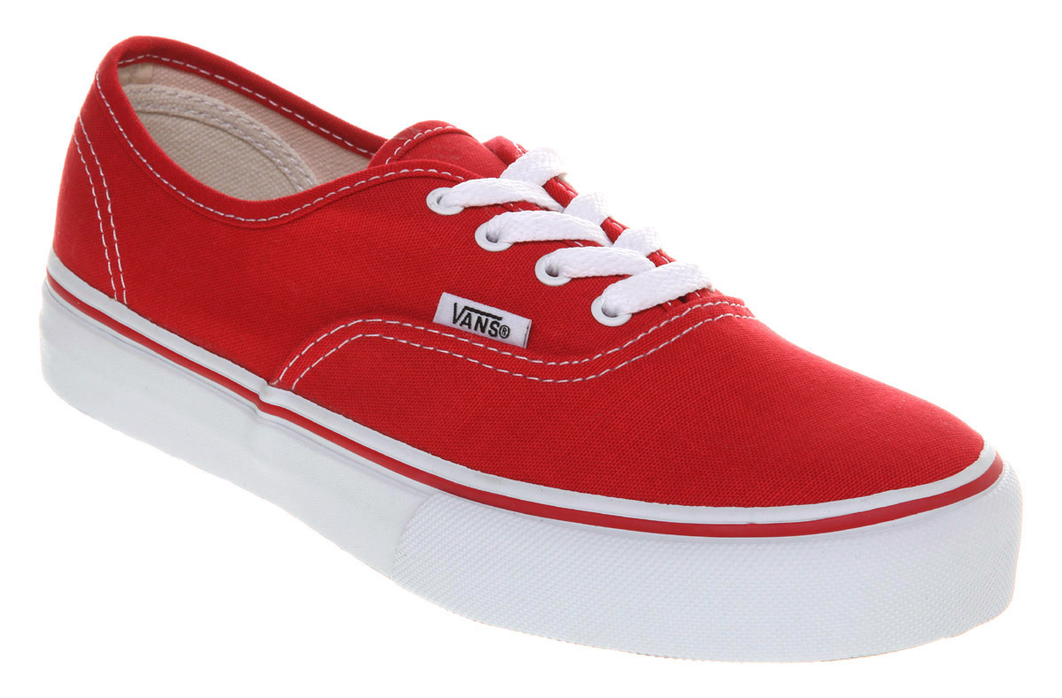 Vans authentic red tubede - ce65