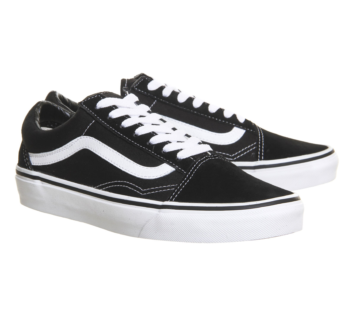 mens vans old skool black trainers shoes ebay. Black Bedroom Furniture Sets. Home Design Ideas