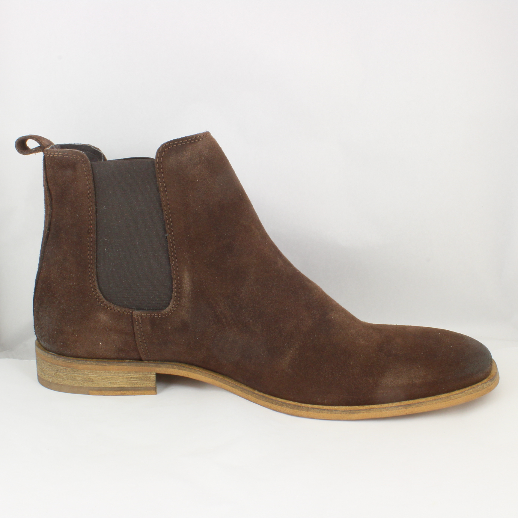mens ask the missus brown suede pull on ankle boots uk