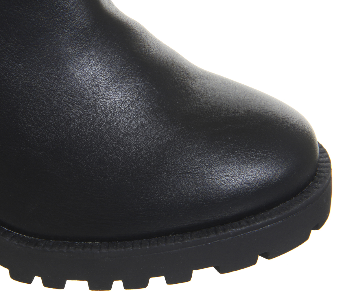 Womens Office Agile Chunky Chelsea Boots Black With Metal Heel Clip Boots