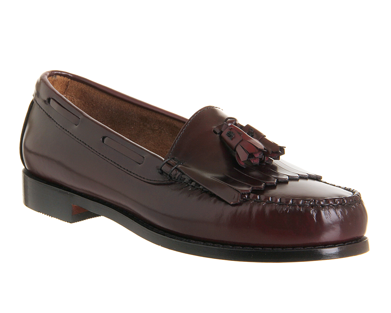 mens g h bass layton tassel loafers burgundy leather
