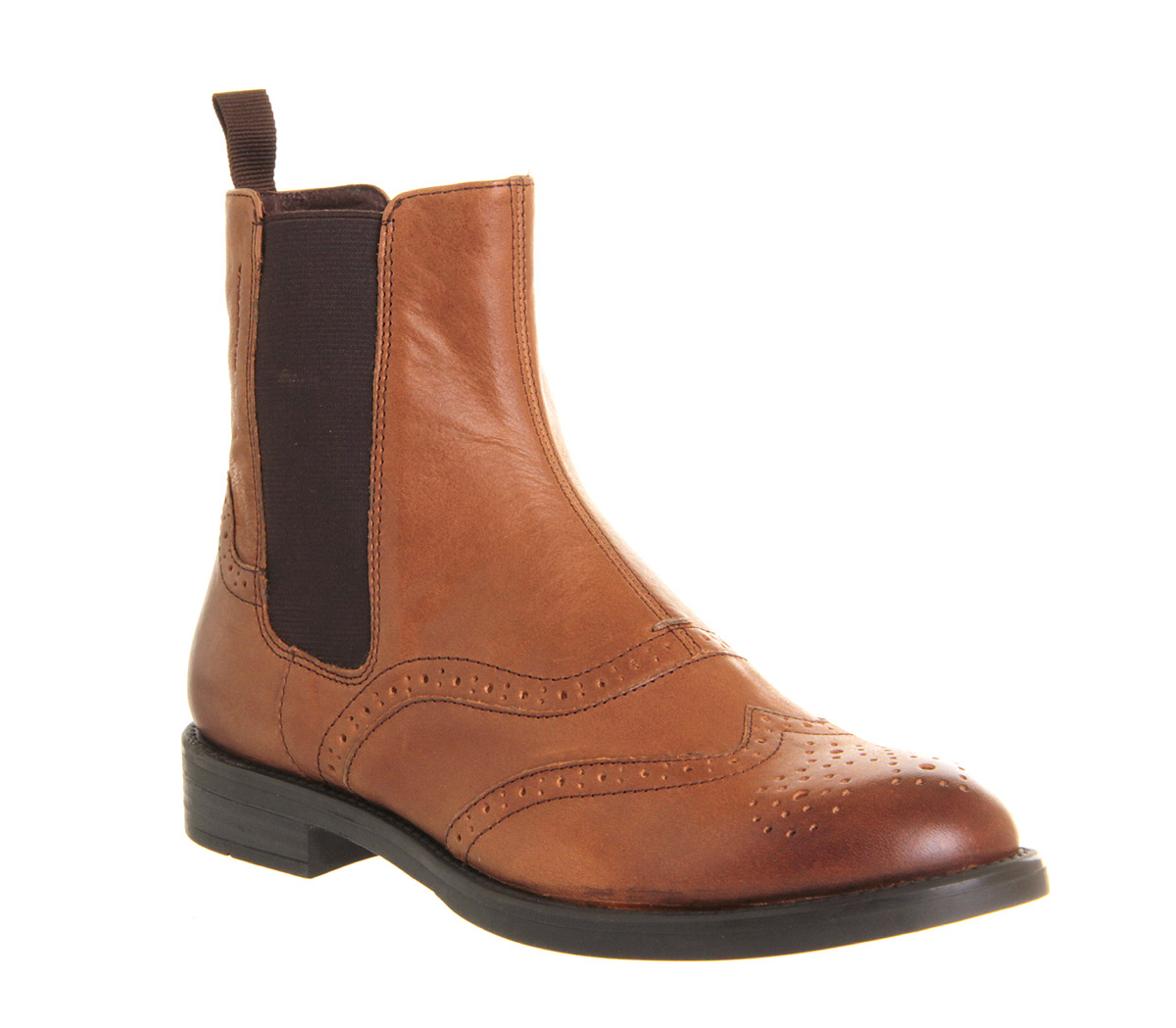 womens vagabond amina chelsea tan leather boots ebay. Black Bedroom Furniture Sets. Home Design Ideas