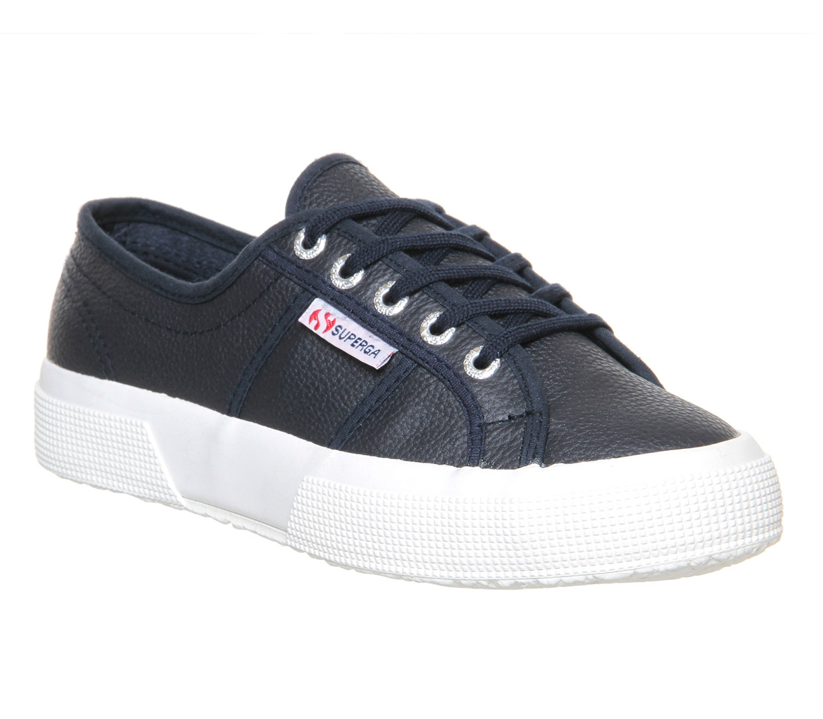 superga 2750 trainers navy leather trainers shoes ebay