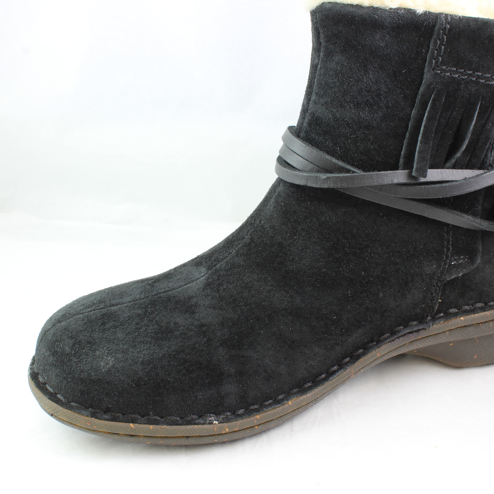 Clean Faded Black Suede Shoes