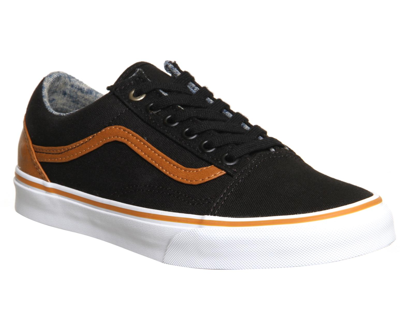 brown old skool vans shoes