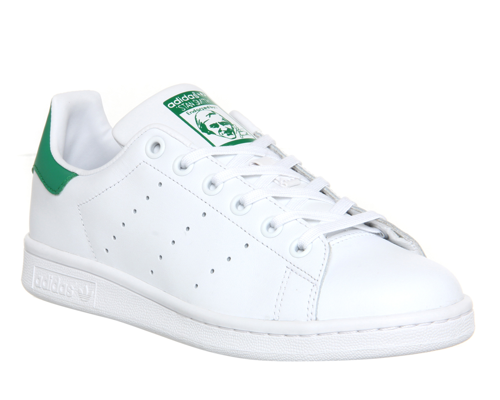 mens adidas stan smith core white green trainers shoes ebay. Black Bedroom Furniture Sets. Home Design Ideas