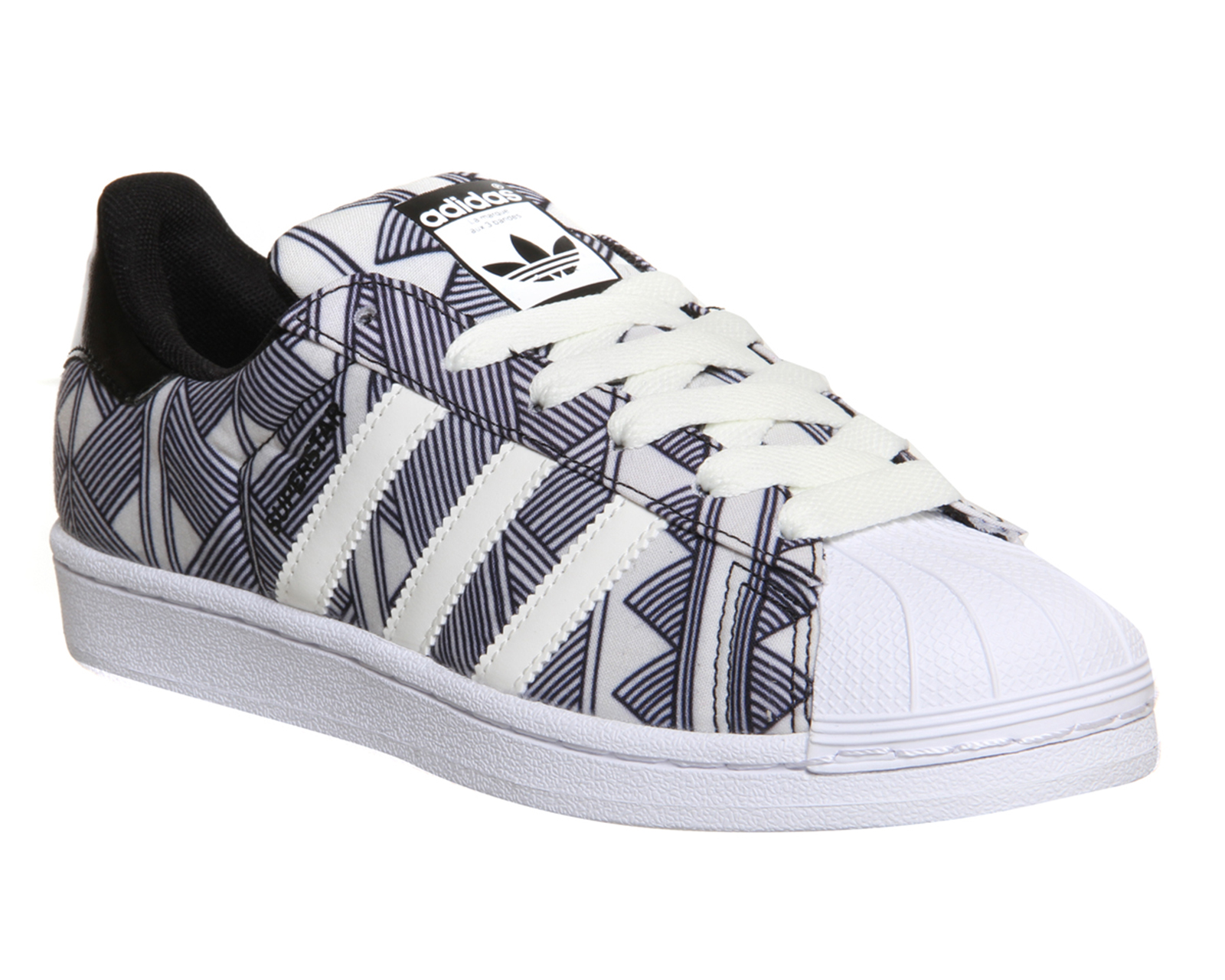 Adidas Superstar II White Red Blue Trainers for Women Shoes