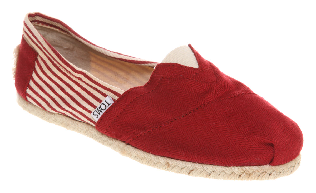 Womens-Toms-University-Espadrille-Red-Canvas-Flats