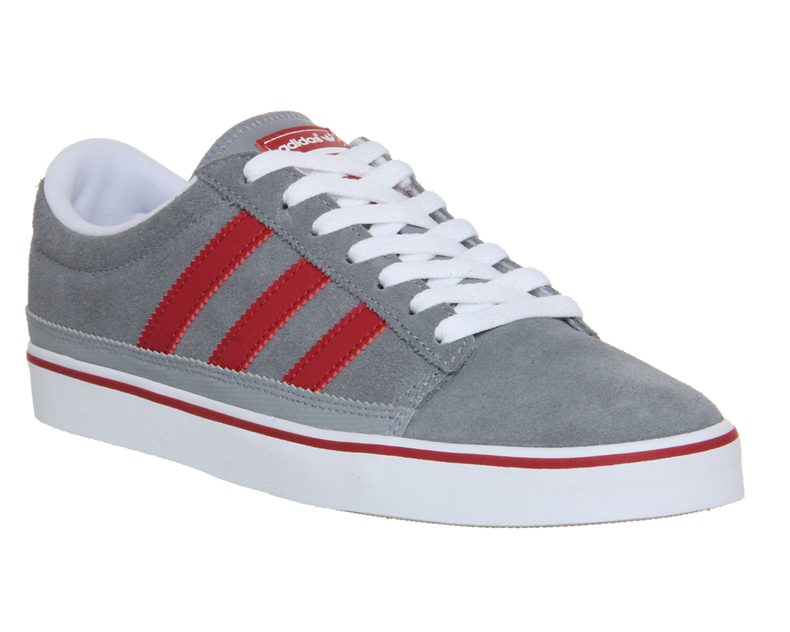 adidas grey and red trainers
