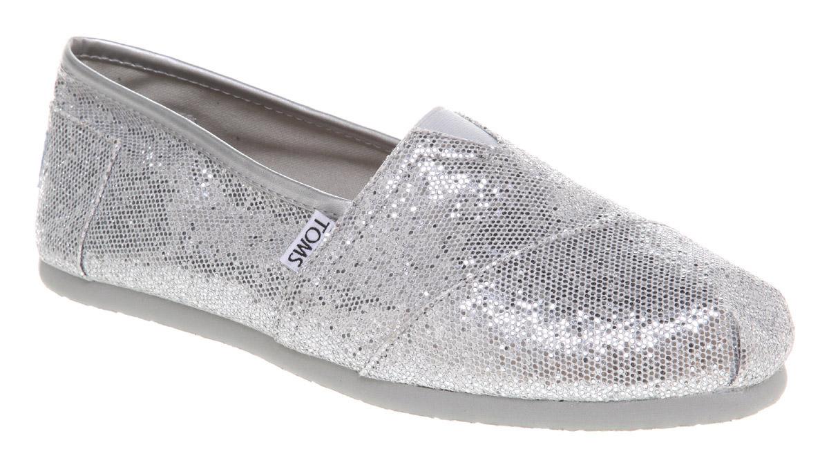 Womens-Toms-Glitter-Espadrille-Silver-Glitter-Flats