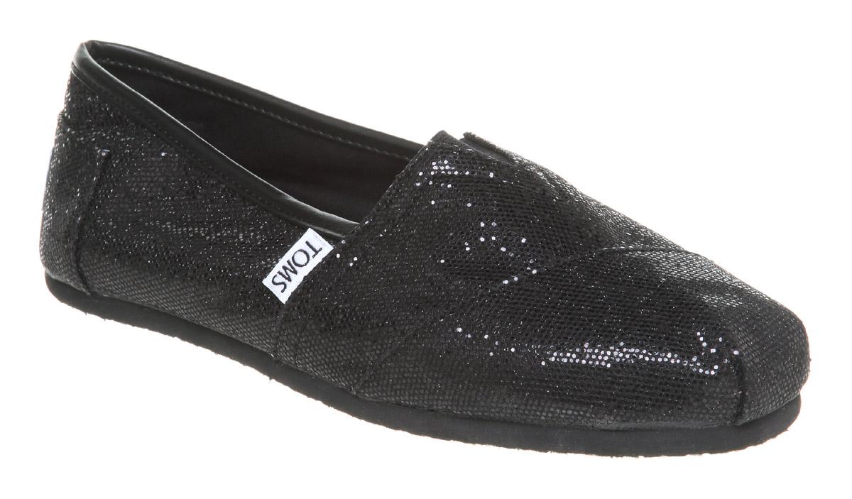 Womens-Toms-Glitter-Espadrille-Black-Glitter-Flats