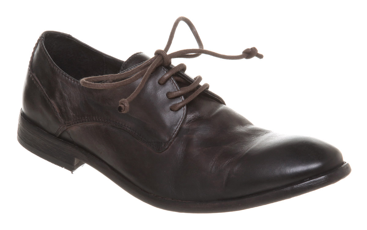 Mens-H-By-Hudson-Dillon-Gibson-Lace-Up-Black-Leather