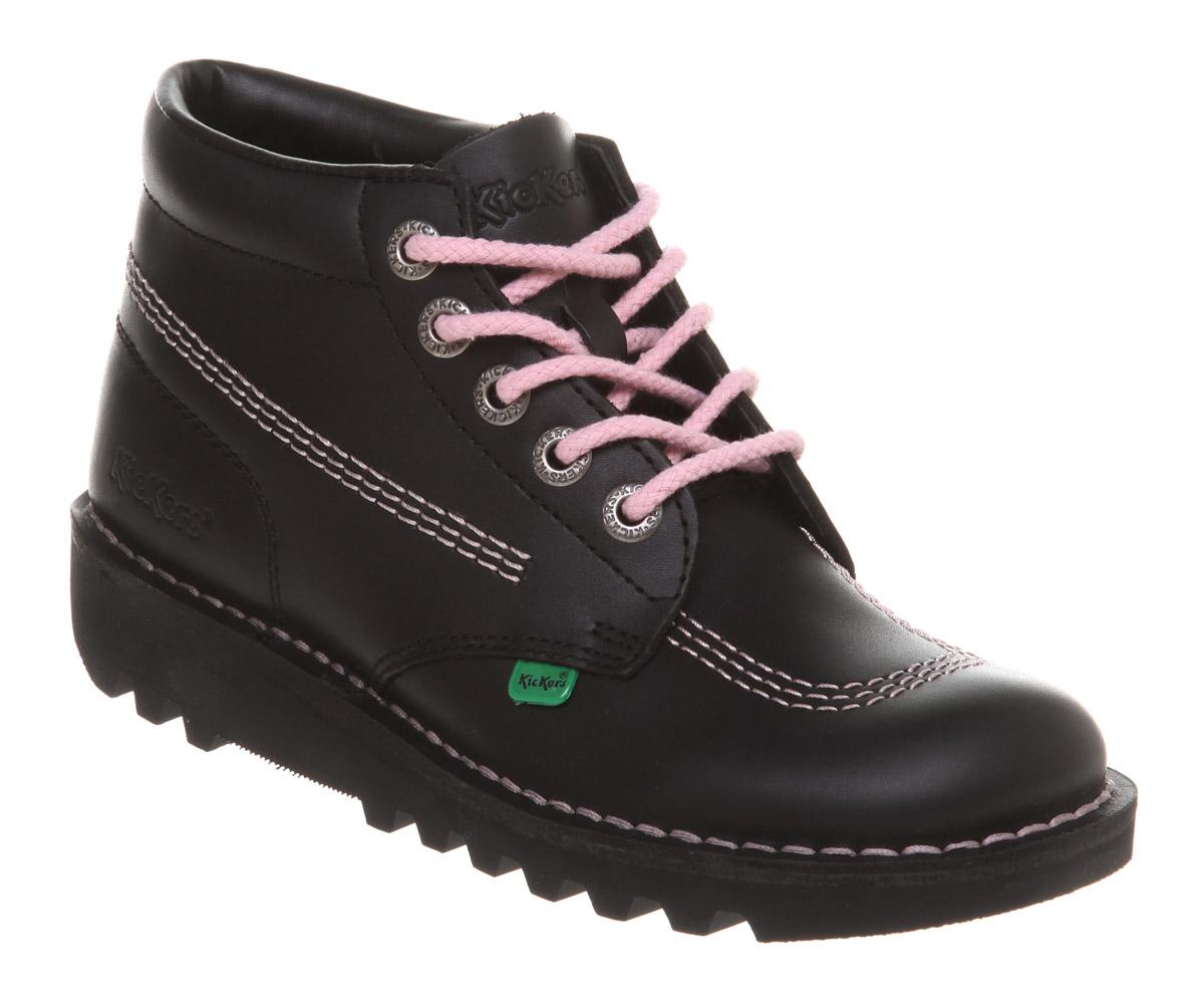womens kickers kick hi womens blackpink flats shoes ebay