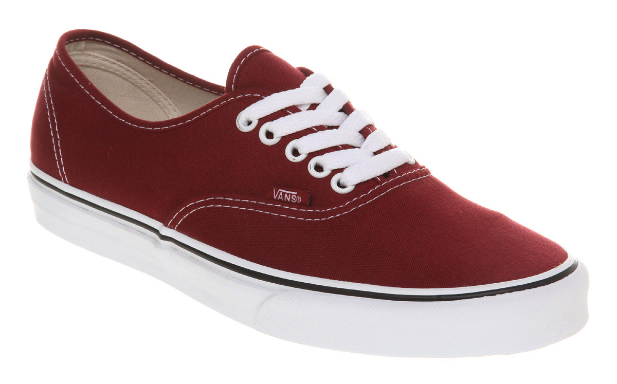 vans shoes red and white. image is loading vans-authentic-biking-red-white-trainers-shoes vans shoes red and white