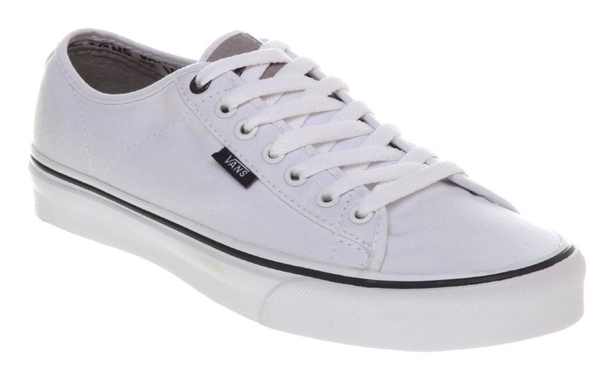Mens Vans Canvas Shoes White Blue Ferris Trainers Mens