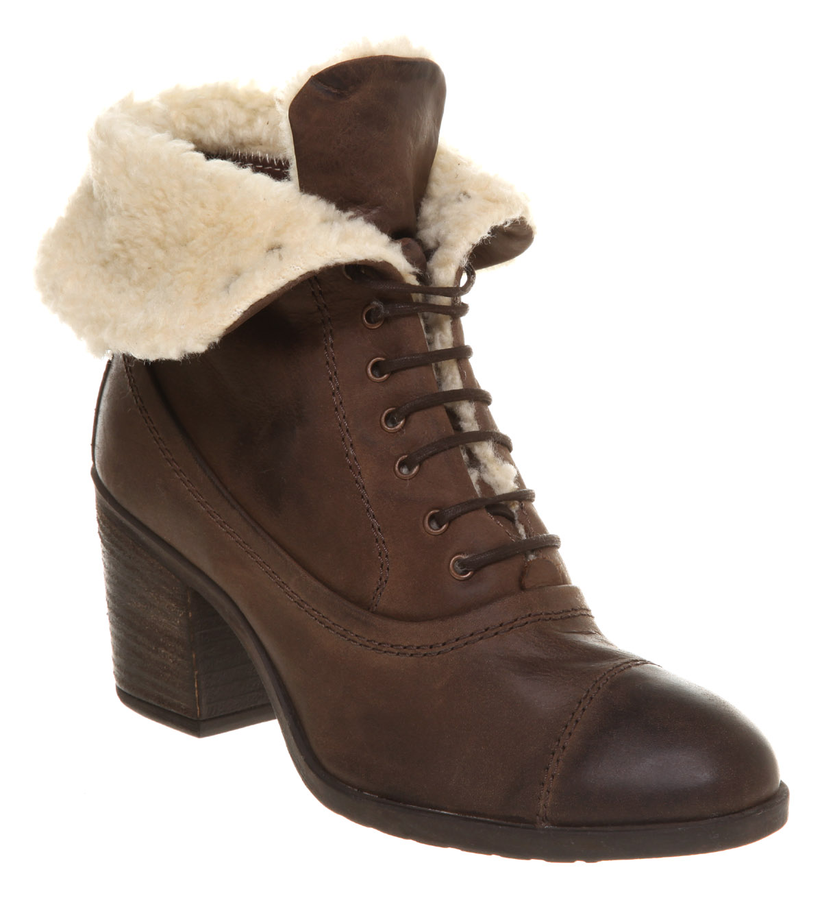 Womens-Office-Koala-Lace-Up-Leather-Boots-Shoes-Deal