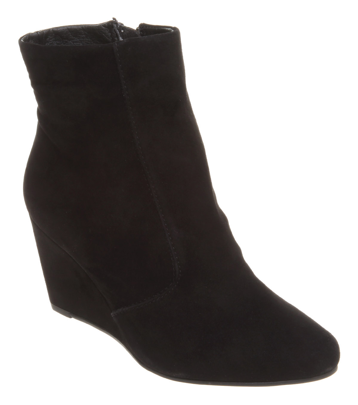 womens office katoir wedge ankle boot black suede boots