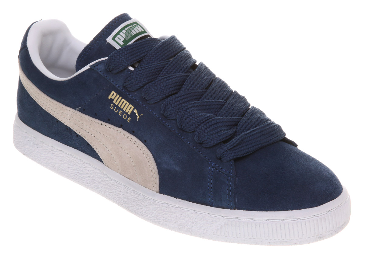 mens puma suede classic ensign blue white trainers ebay. Black Bedroom Furniture Sets. Home Design Ideas
