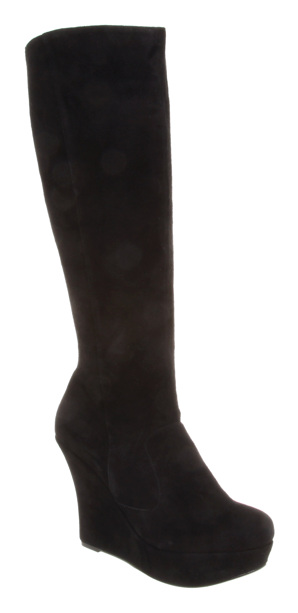 womens office etta wedge knee boot black suede boots ebay
