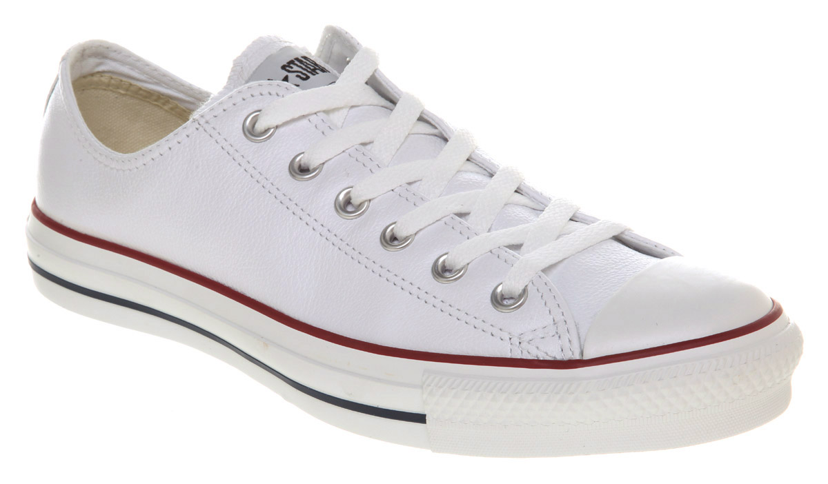 53f124bb33ca Image is loading Converse-All-Star-Leather-Ox-Low-White-Trainers-