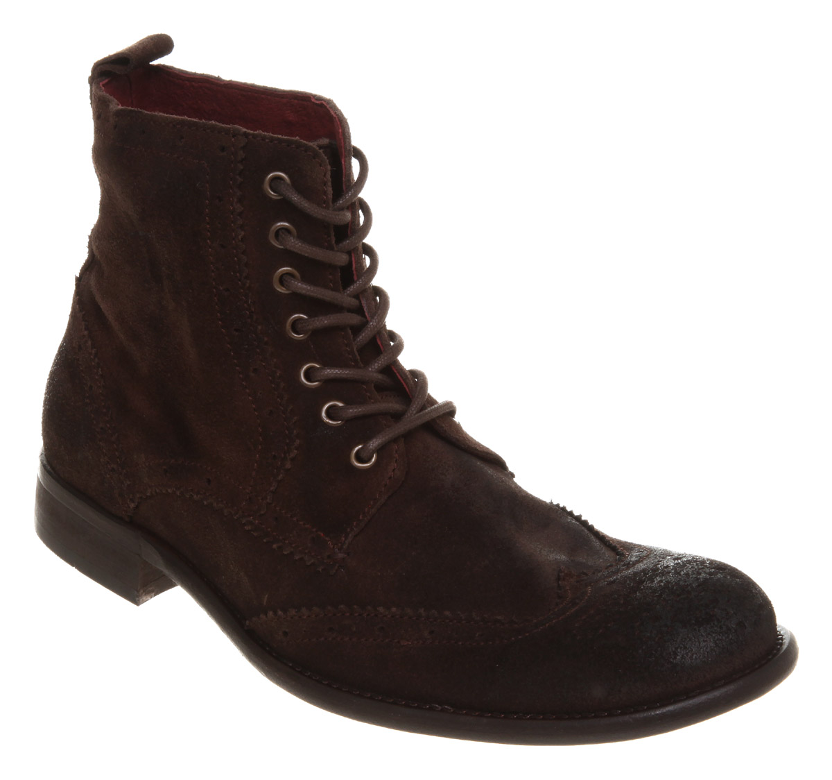 mens poste fury brogue lace boot brown suede boots ebay