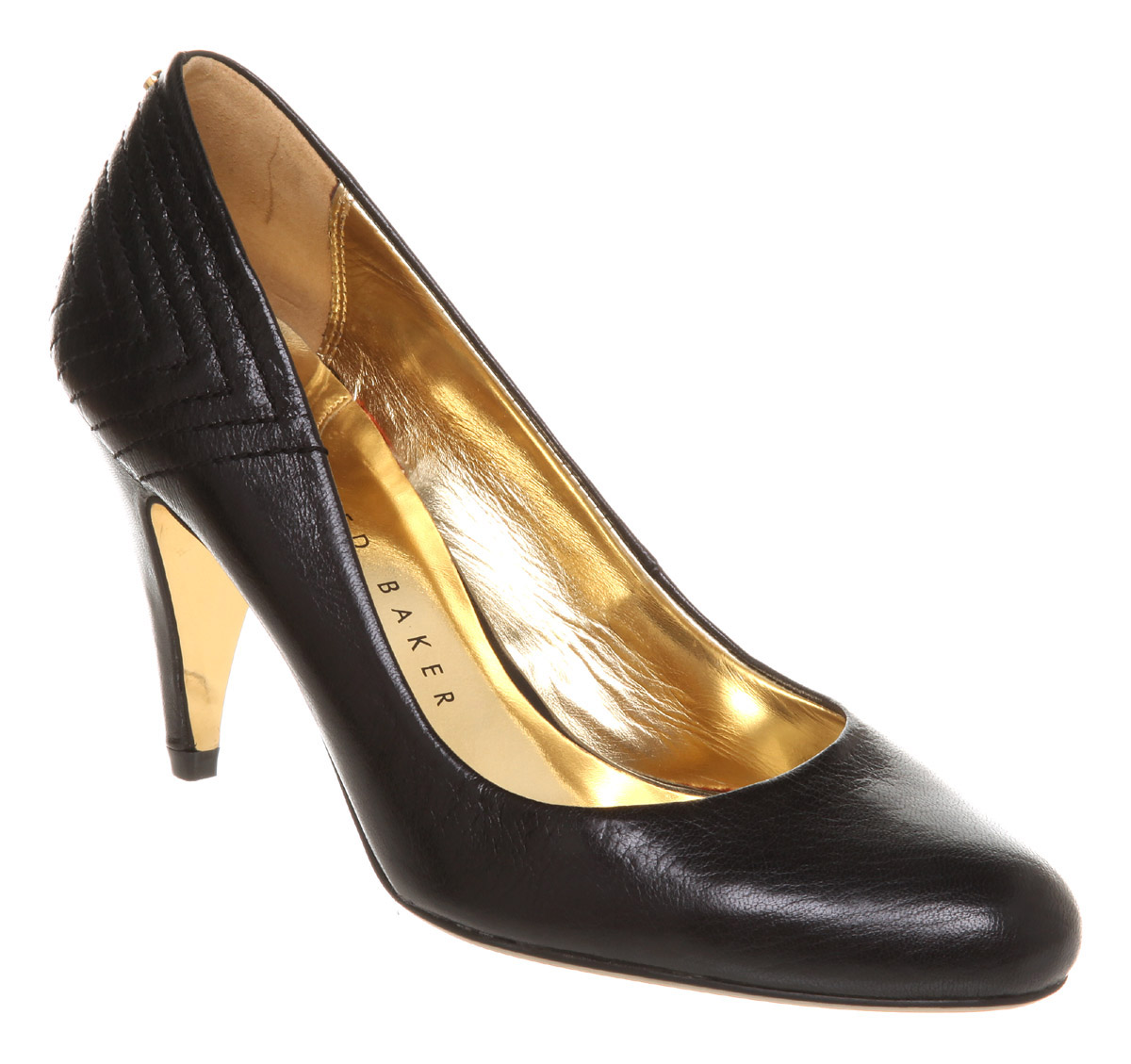womens ted baker ackia court shoe smu black leather hee ebay