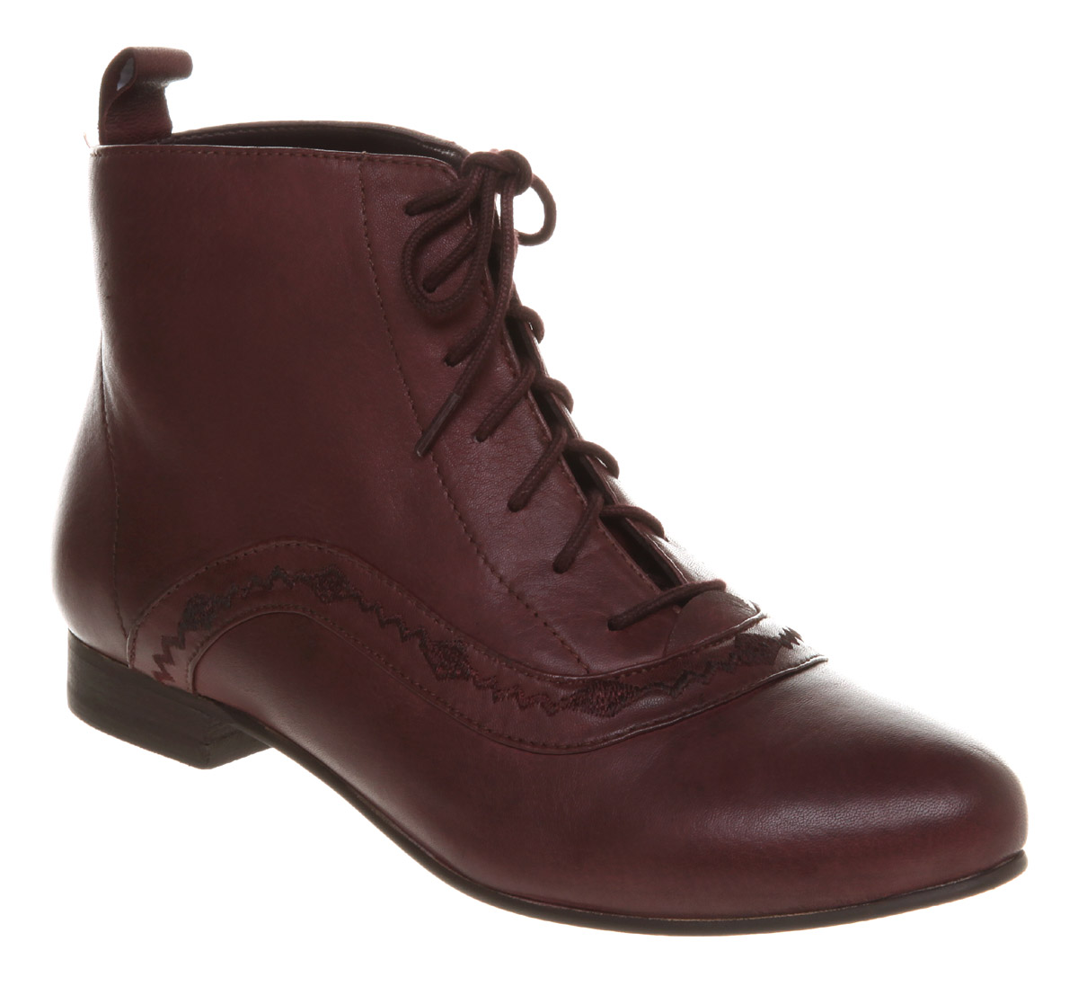 womens office kid n play burgundy leather boots