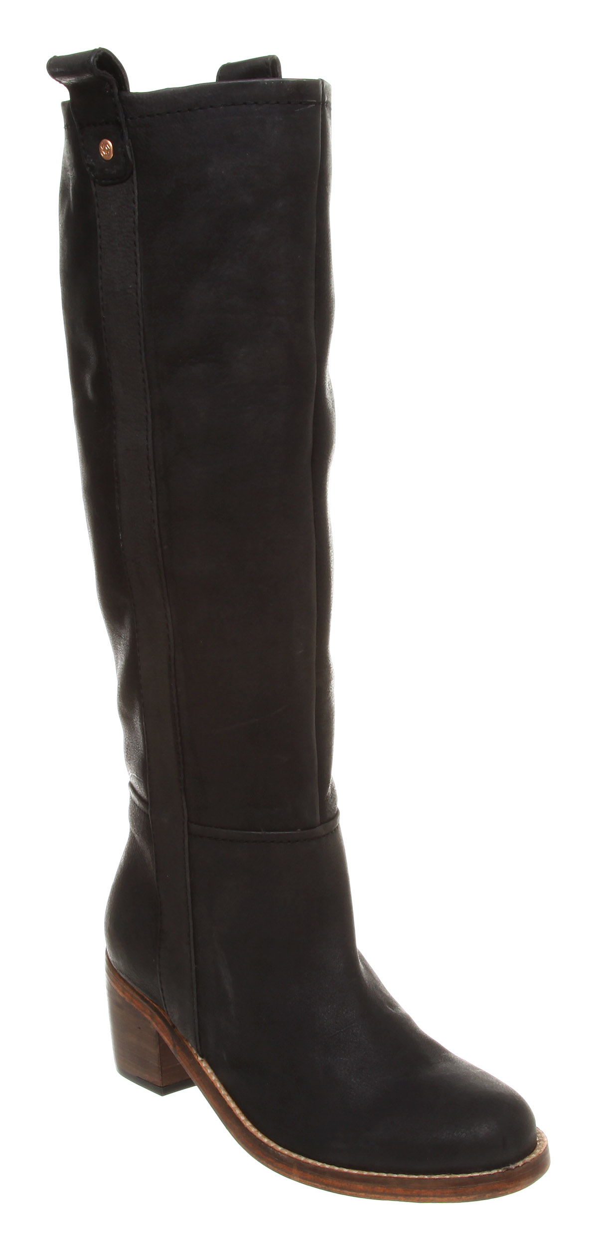 womens ted baker mayra pull on knee boot black leather boots