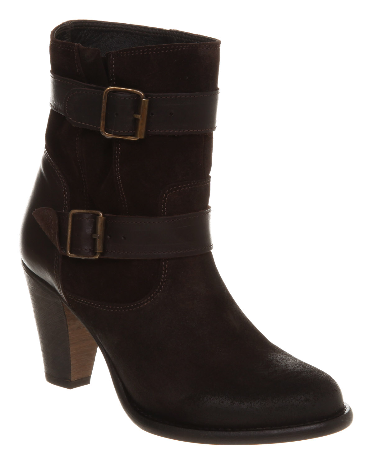 h by hudson oreti highstrap brown suede leather boots