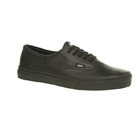 Vans-Authentic-Leather-Black-Mono-Trainers