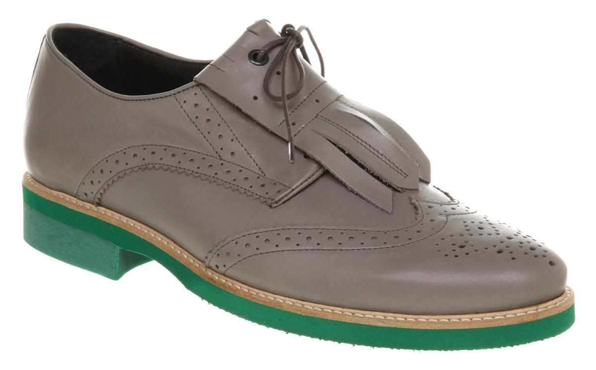 mens ffor odin brogue grey leather formal shoes ebay