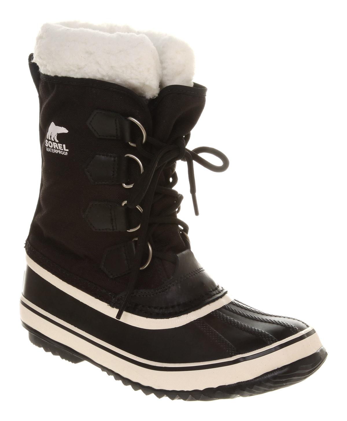 womens sorel winter carnival black boots ebay