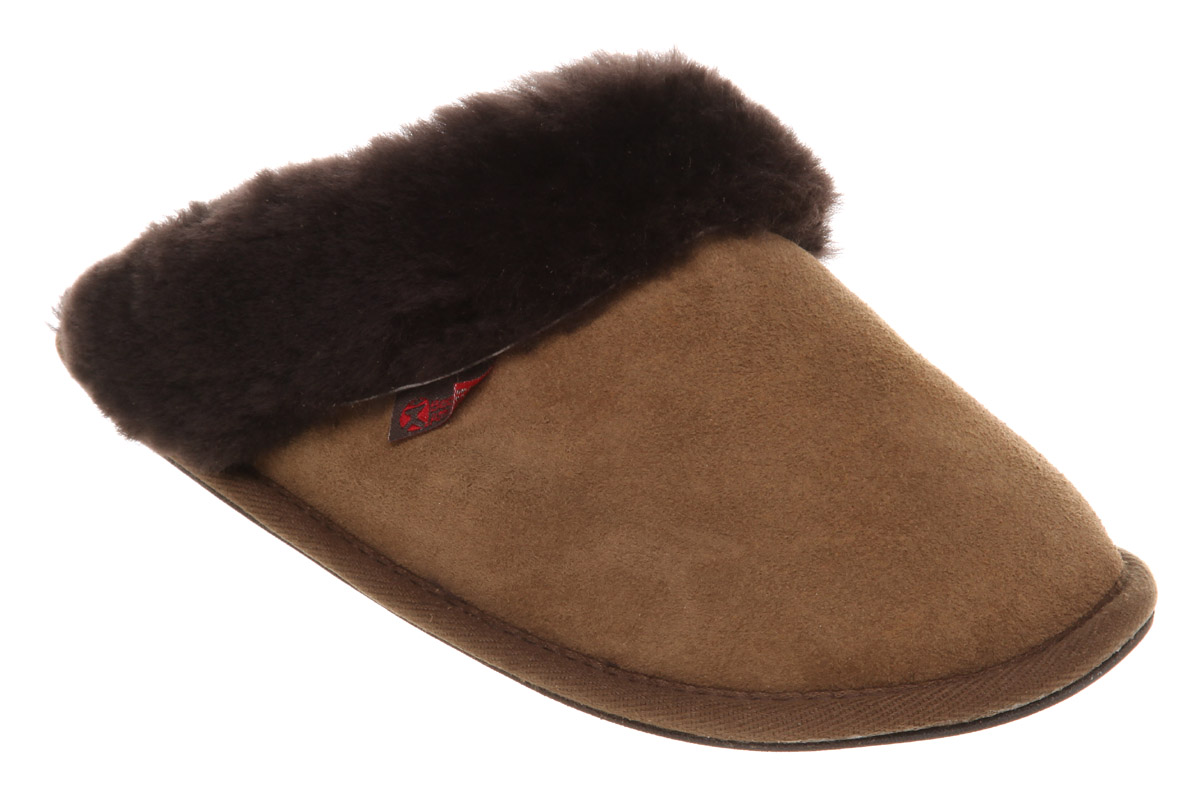 womens bedroom athletics molly sheepskin slippers choc ebay. Black Bedroom Furniture Sets. Home Design Ideas