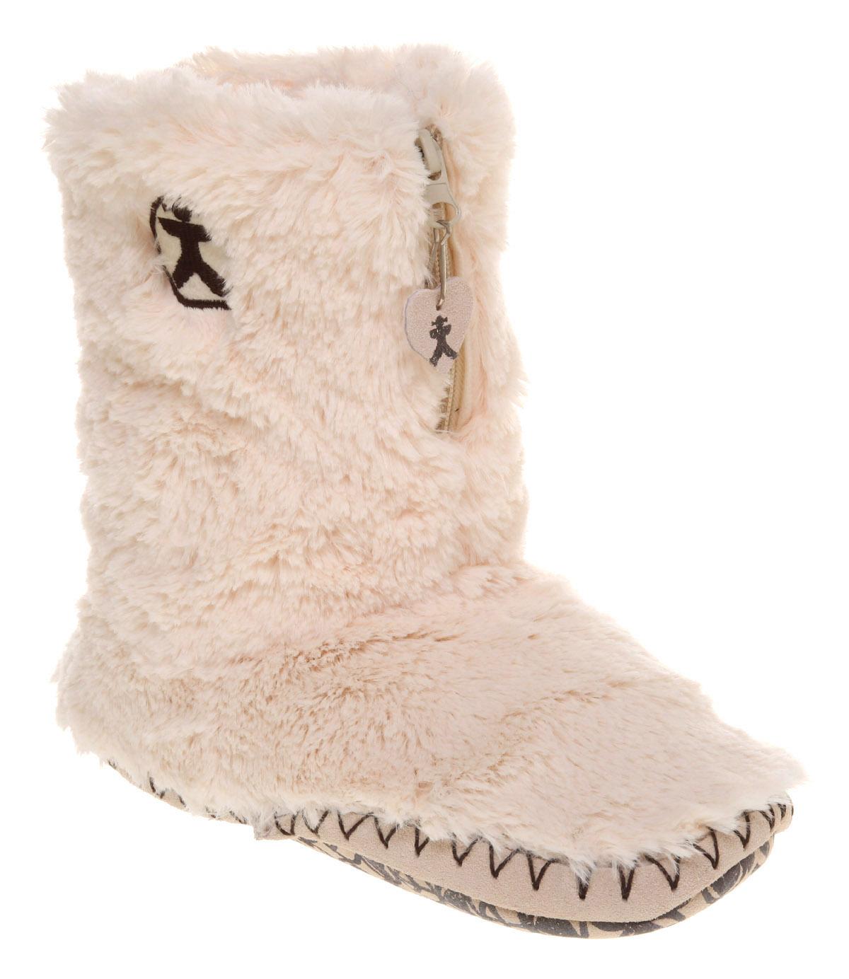 Bedroom Athletics Marilyn Iii Slipper Cream Fur Flats Ebay