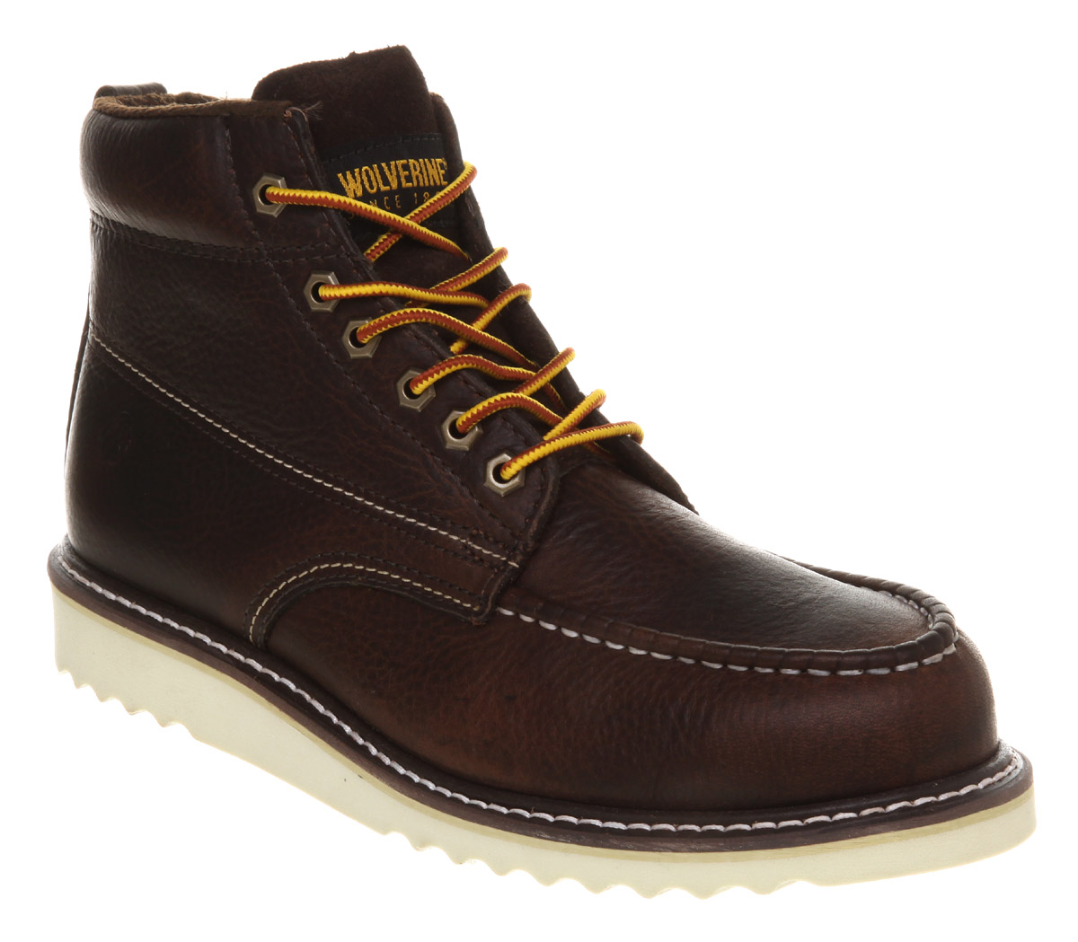 Mens-Office-Apprentice-Wedge-Boot-Choc-Leather-Boots