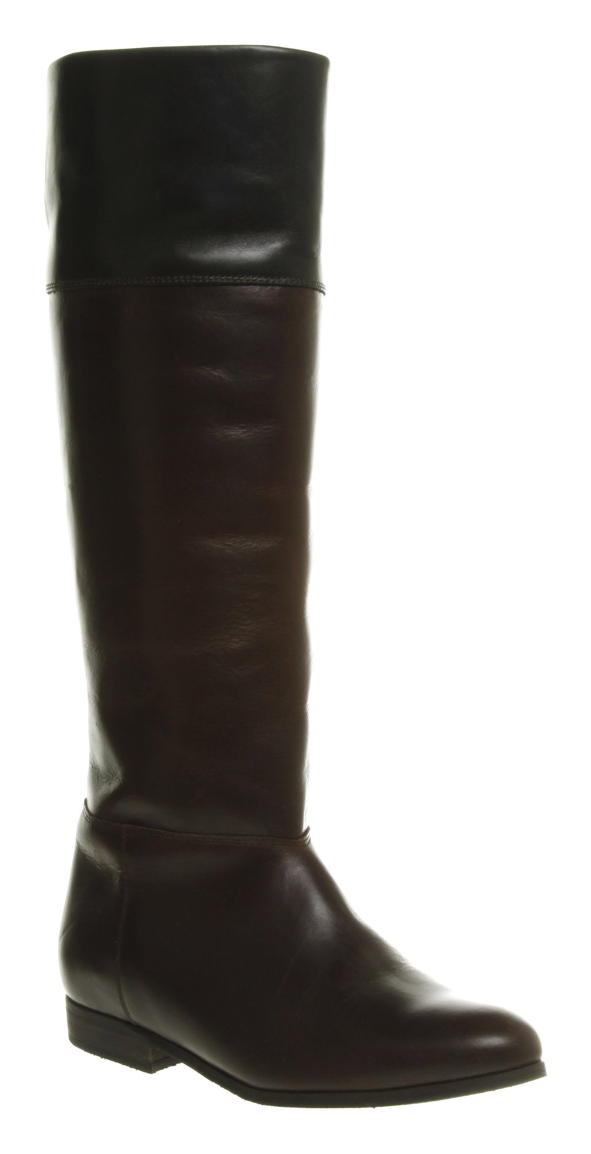 Womens-Office-Clippety-Clop-Tall-Chocolate-Brown-Green-Leather-Riding-Boots
