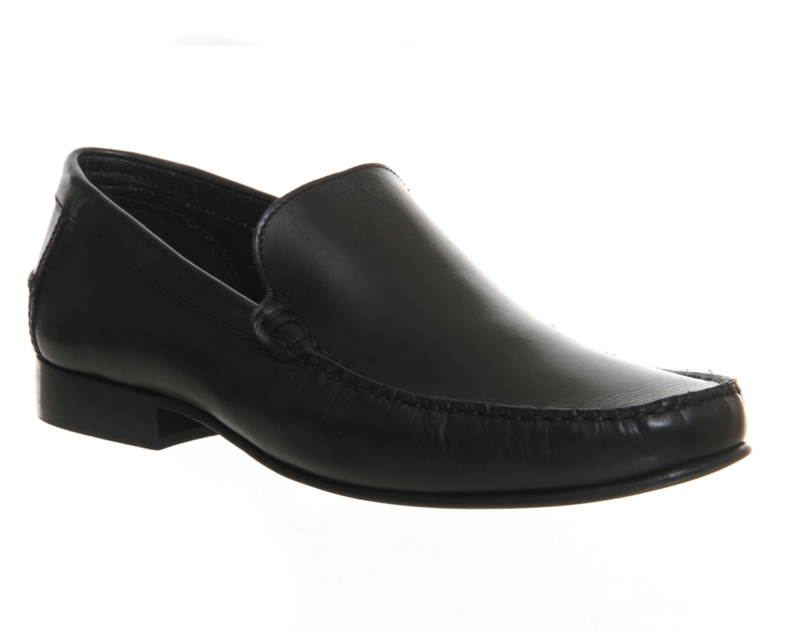 mens office billy loafers black leather formal shoes ebay