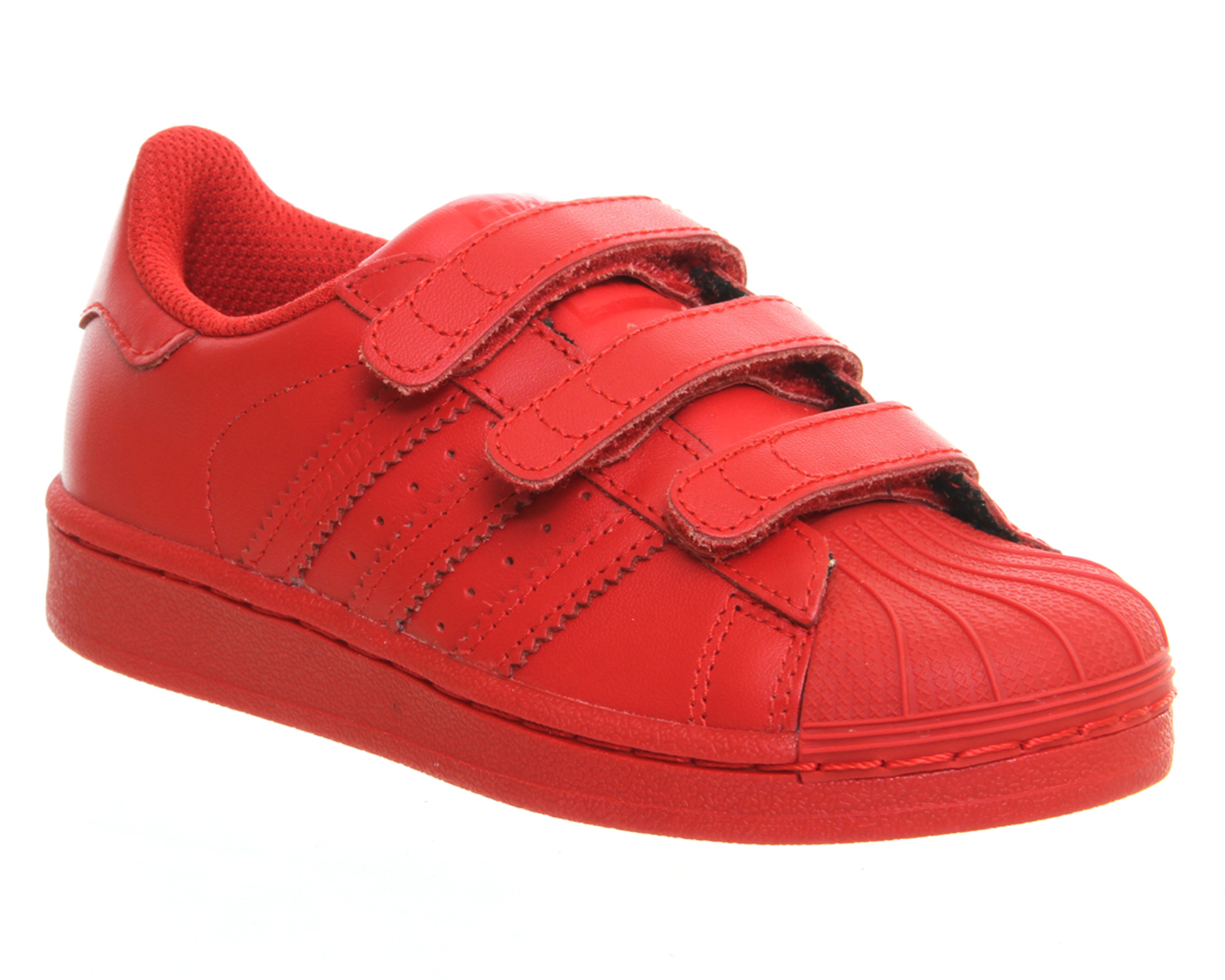 adidas superstar red kids
