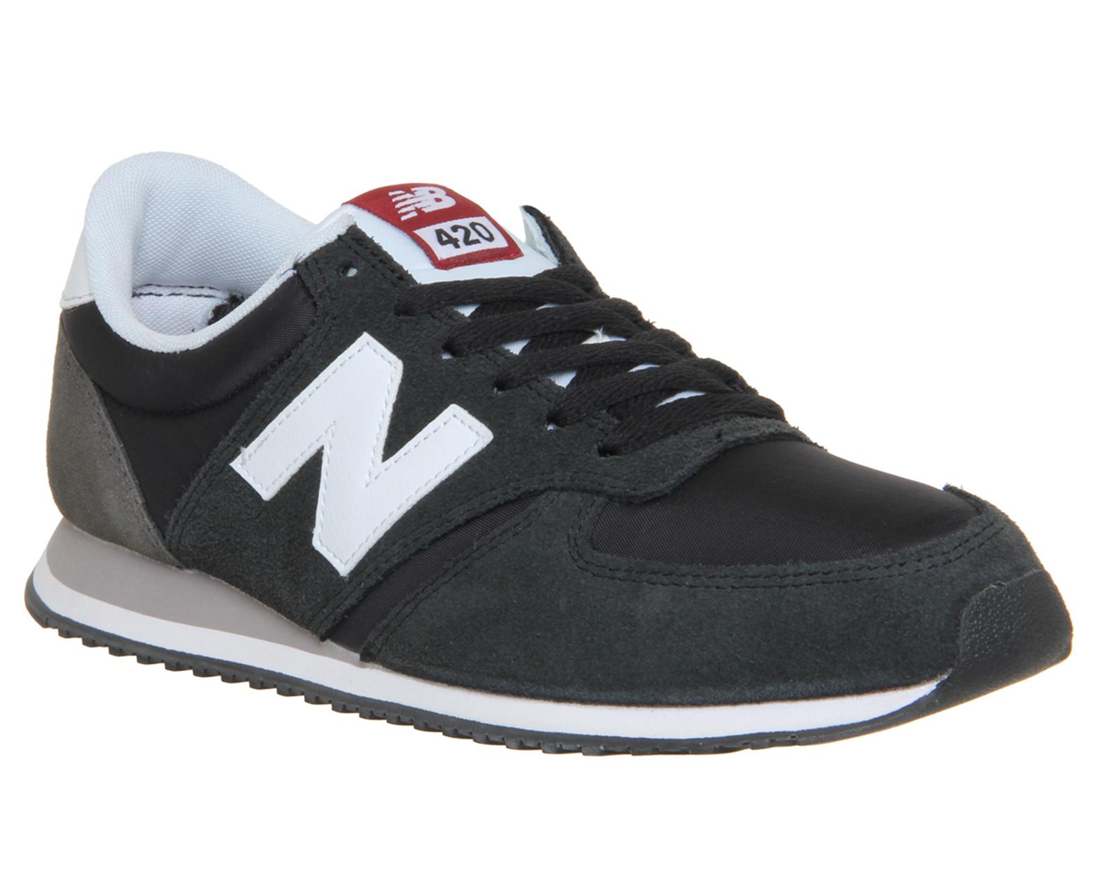 mens new balance u420 trainers black white trainers shoes. Black Bedroom Furniture Sets. Home Design Ideas