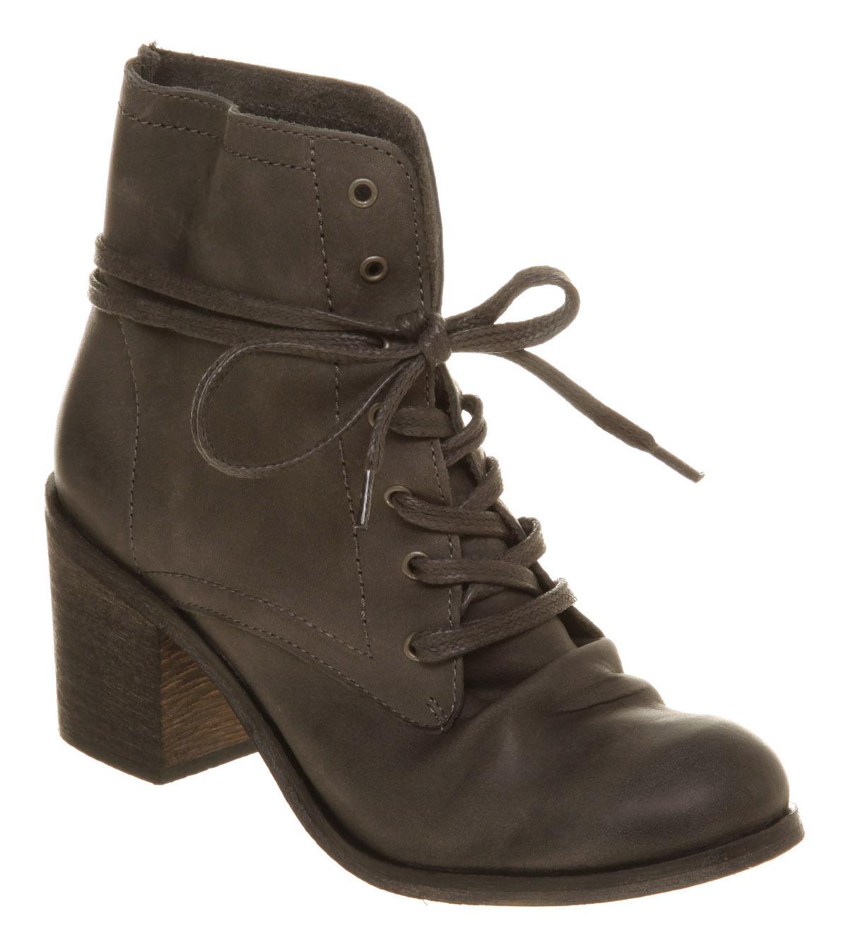 womens office kookie lace grey leather boots ebay