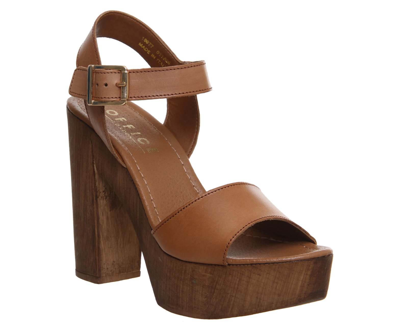 Womens Office Pacific Sandal Tan Leather Sandals