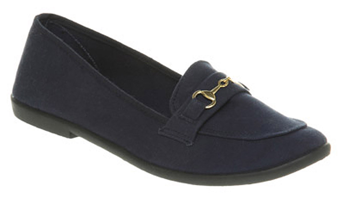 Womens-Office-Raffle-Snaffle-Black-Canvas-Flats-Shoes