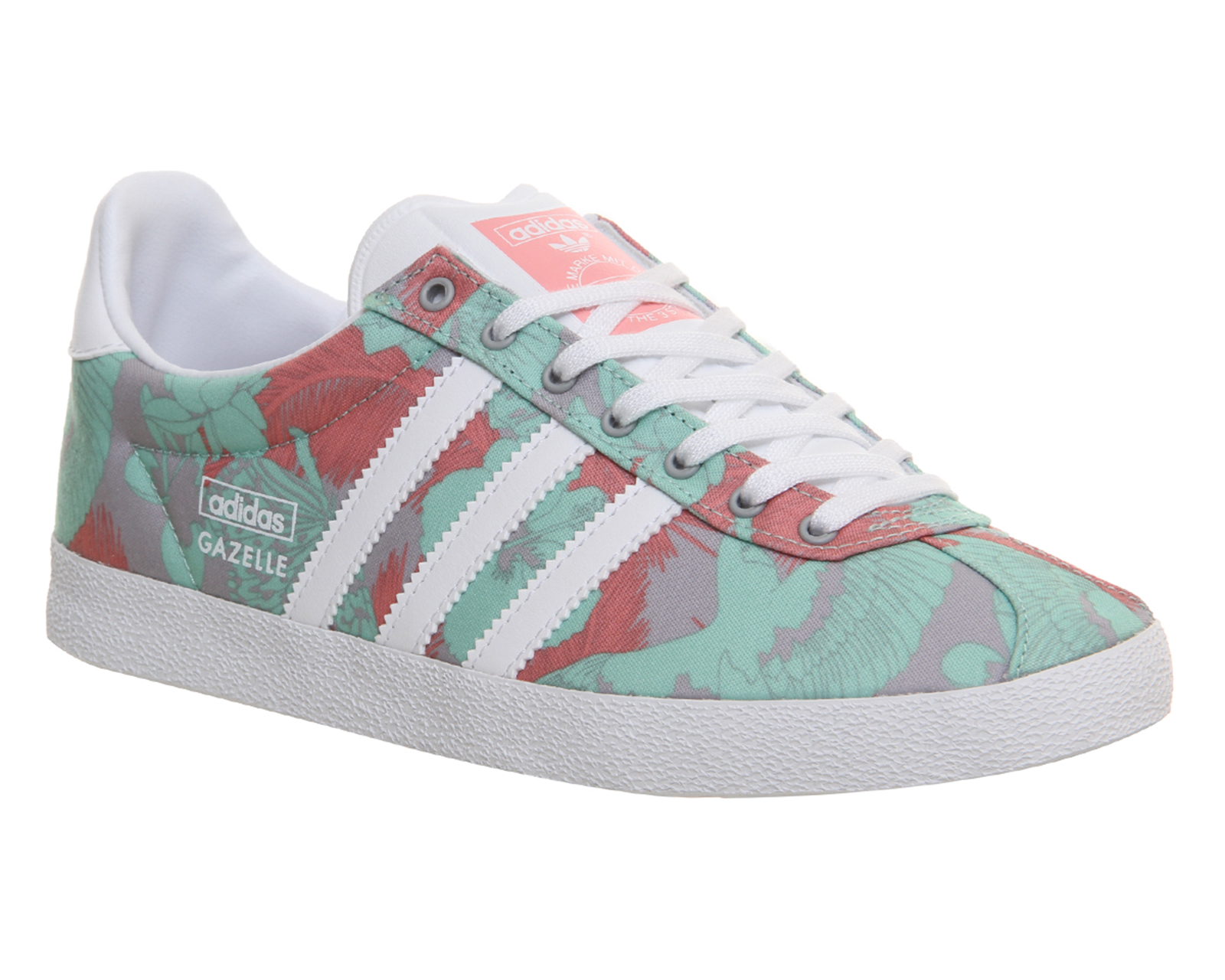 adidas gazelle og w onyx white pink print trainers shoes ebay. Black Bedroom Furniture Sets. Home Design Ideas