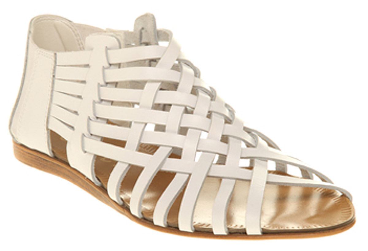 Womens-Office-Spiral-Sandal-White-Leather-Sandals